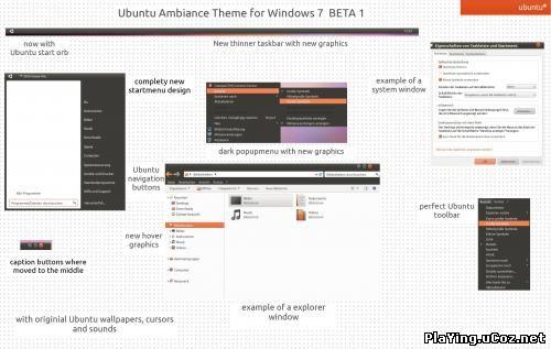Ubuntu Ambiance Theme for 7